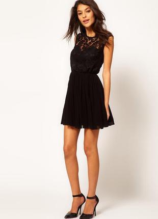 Гепюровое платье с юбкой солнце от asos