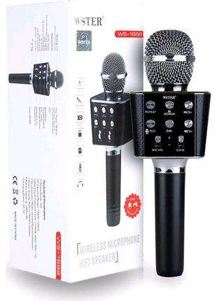 Беспроводной караоке микрофон WSTER WS-1688 Bluetooth USB AUX