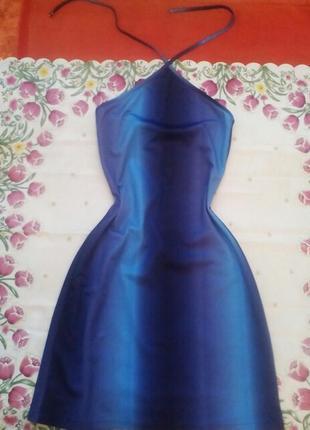 Очень красивое платье-сарафанчик неоново-синего цвета