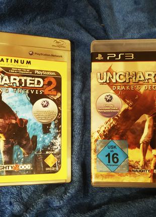 Uncharted 2 Uncharted 3 PS3 (340 за всё!!!!)