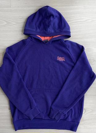 Худи фиолетового цвета lonsdale