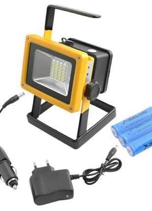 Прожектор переносной ручной Bailong BL-204 с аккумулятором | Р...