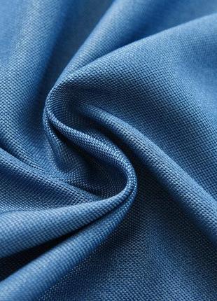 Шторы лён блэкаут. Цвет - синий