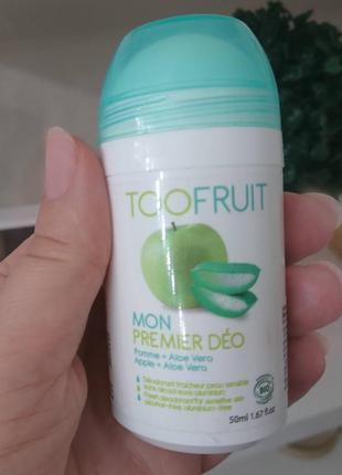 Органический дезодорант яблоко и алоэ вера 50 мл toofruit
