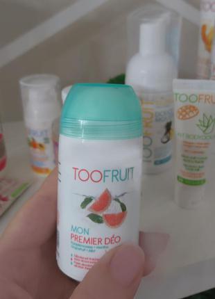 Органический дезодорант мой первый део грейпфрут и мята toofru...