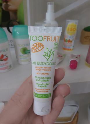 Органическое молочко для тела манго-алое toofruit 25 мл