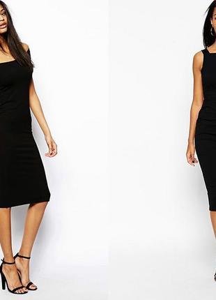 Черное платье миди классика