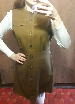 Модное платье пиджак рубашка миди на пуговицах спереди
