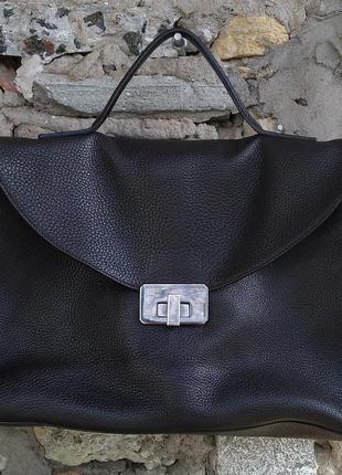 Jil sander оригинал сумка саквояж натуральная кожа италия