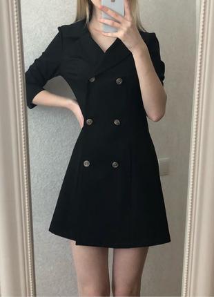 Платье-костюм платье-пиджак на пуговицах