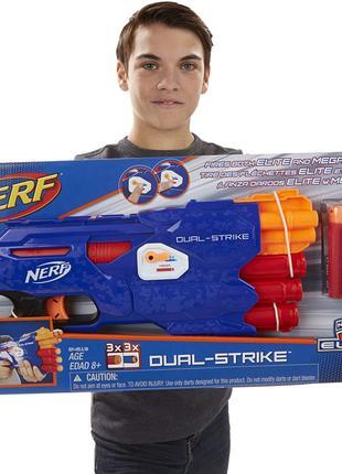 Нерф Дуал Страйк Мега+Элит (Nerf DualStrike Hasbro) + пули в пода