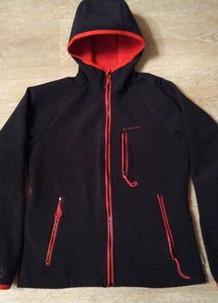 Куртка, спортивная, с капюшоном, софтшел, quechua