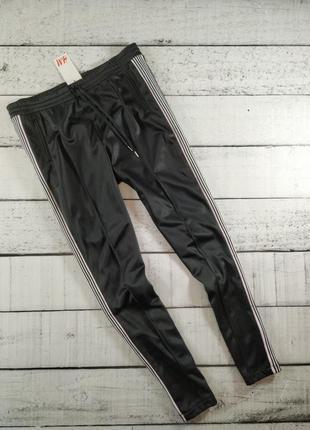 Спортивные черные брюки штаны с лампасами h&m