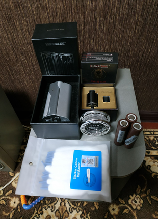 Продам Wismec RX2/3, DRIPPER TANK Faraon, АКБ, набор инструментов