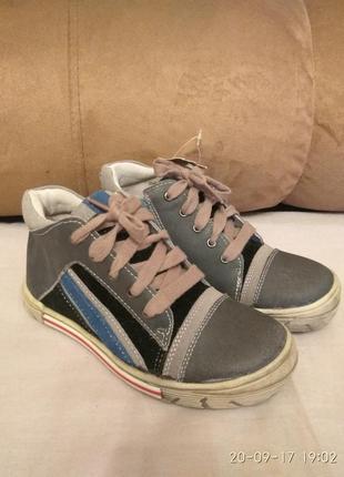 Детские кожаные ботинки andre  франция