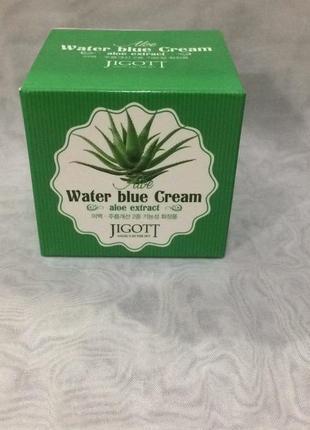 Успокаивающий крем с экстрактом алоэ jigott aloe water blue cream