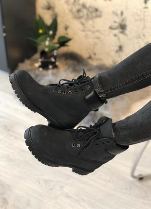 Ботинки timberland c мехом