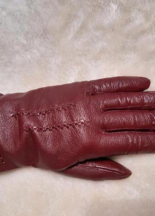 Кожаные перчатки осень-зима размер м