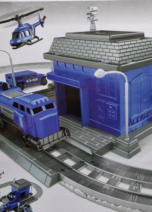 Железная дорога, 866-2-5 , поезд, игра, набор, полиция, машинки