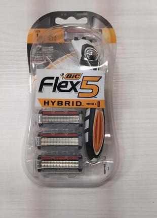 Станок мужской Bic Flex 5 Hibrid 3 сменные кассеты США