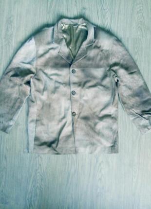Кожанный мужской пиджак-куртка