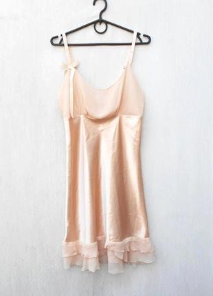 Сексуальная атласная ночная сорочка рубашка ночнушка