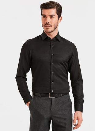 Черная мужская рубашка lc waikiki / лс вайкики классического п...