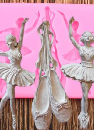 """Молд кондитерский из силикона """"Балерины и пуанты"""" - размер молда"""