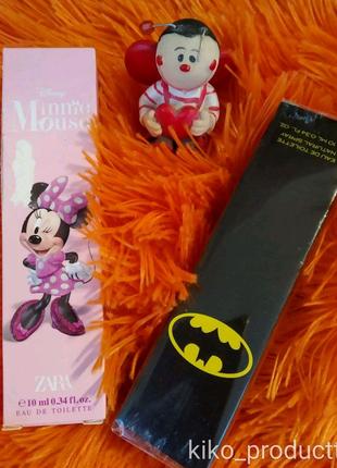 Одеколон Zara BATMAN COMICS 10ml. та Minnie MOUSE 10ml.