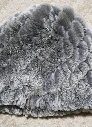 Теплая зимняя шапка мех рекс