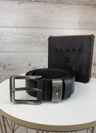 Ремень tommy hilfiger кожа классика 2 + подарочная коробка