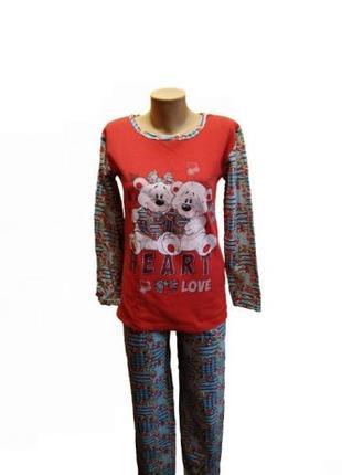 Пижама байка, красная.размер М.