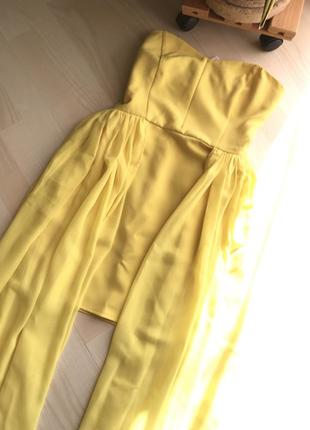 Шикарное платье на выпускной или праздник, xs - s, со шлейфами...