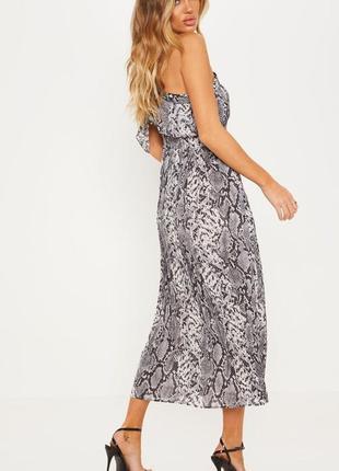Ликвидация товара 🔥    нежное шифоновое платье миди с змеиным ...