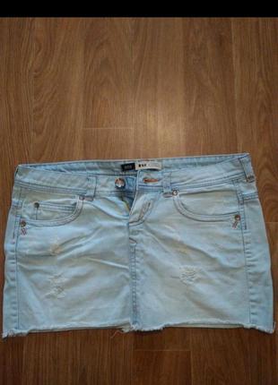 Джинсовая юбка 44 размер