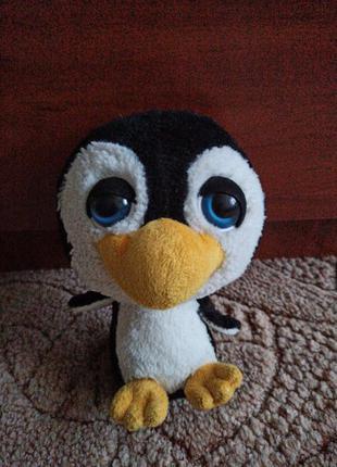 Мягкая игрушка глазастик пингвин. мягкая игрушка с большой гол...