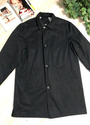 Черный плащ куртка пиджак дождевик мужской
