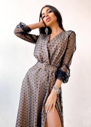 Платье сетка на подкладке