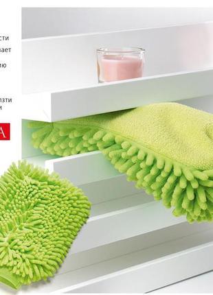 Варежка -салфетка для уборки дома и автомобиля