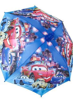 Качественный зонт трость для мальчика тачки маквин в складном ...