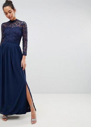 Ликвидация товара 🔥   кружевное платье макси с длинными рукава...