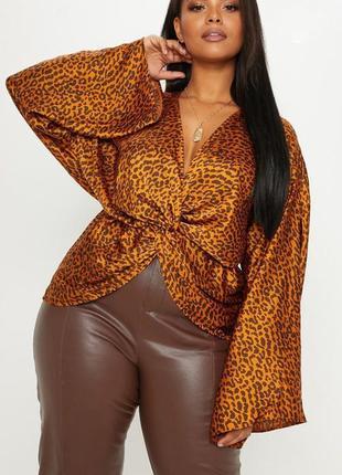 Ликвидация товара 🔥    стильная блуза с леопардовым принтом
