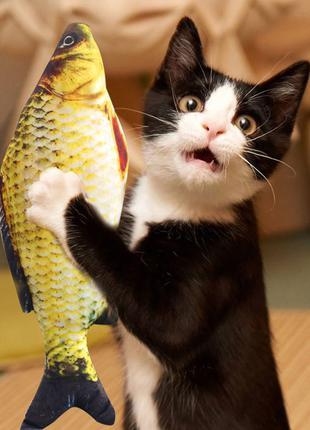 Рибка іграшка для котів игрушка для котов