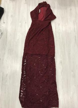 Ликвидация товара 🔥   кружевное платье макси с вырезом на груди