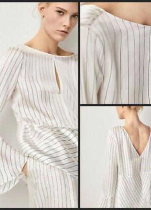 Шёлковая блуза Massimo Dutti