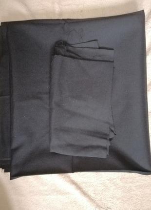 Хлопковая чёрная ткань большой отрез