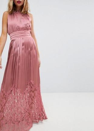 Ликвидация товара 🔥  платье с плиссированной кружевной юбкой