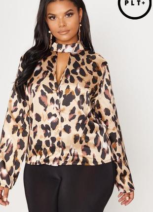 👑♥️final sale 2019 ♥️👑   елегантна блузка з принтом та декольте