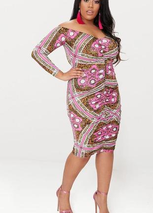 Ликвидация товара 🔥  стильна облягаюча сукня з яскравим принто...