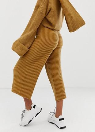 👑♥️final sale 2019 ♥️👑   вязані  брюки кюлоти гірчичного відтінку